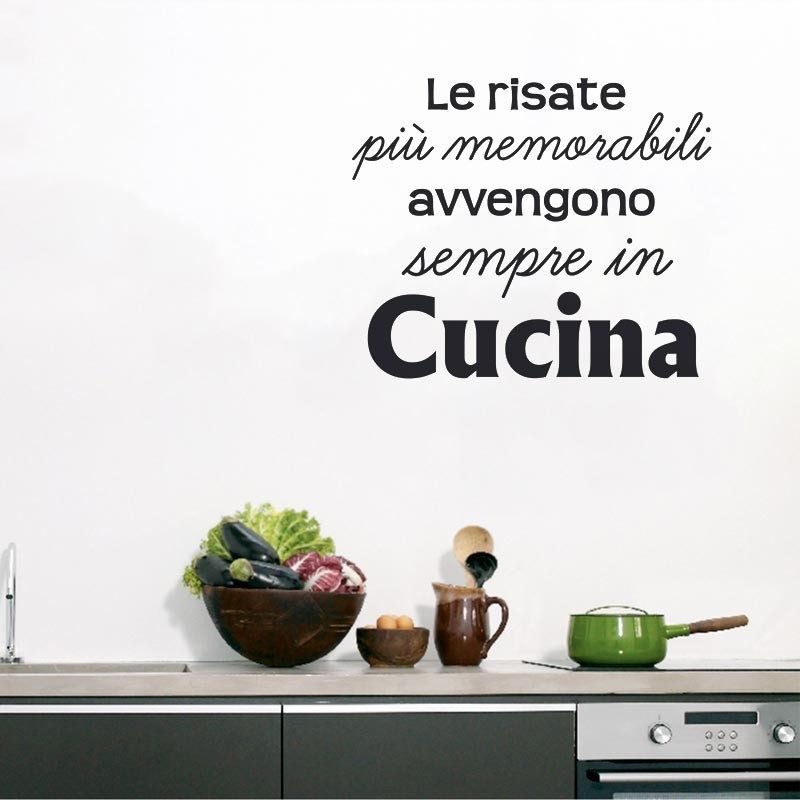 Le risate in cucina