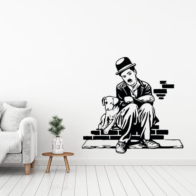 Charlie Chaplin e il cane