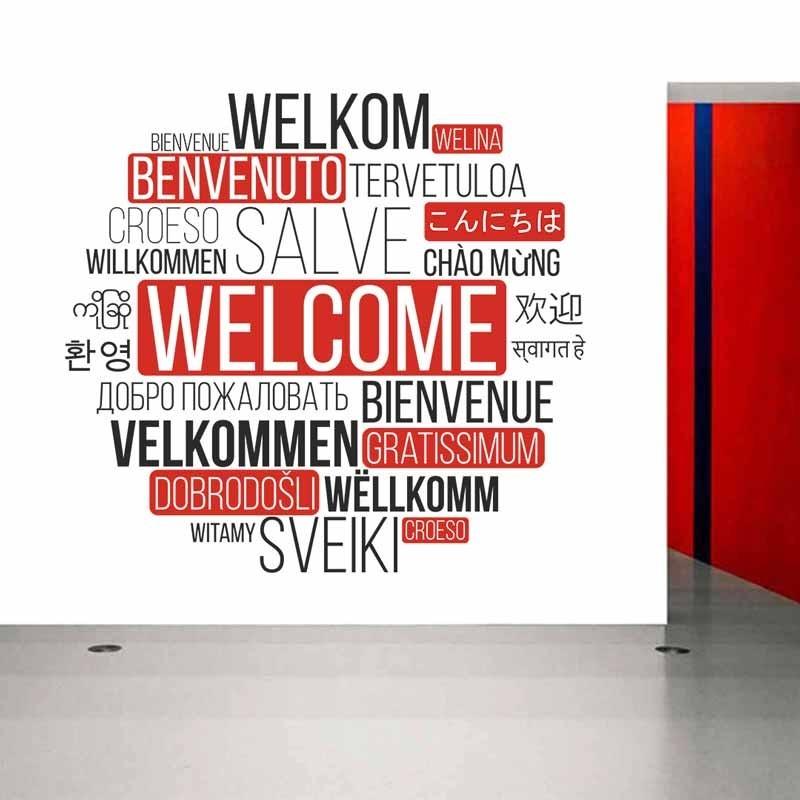 Benvenuto in varie lingue