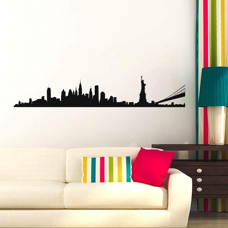Silhouette Città Manhattan