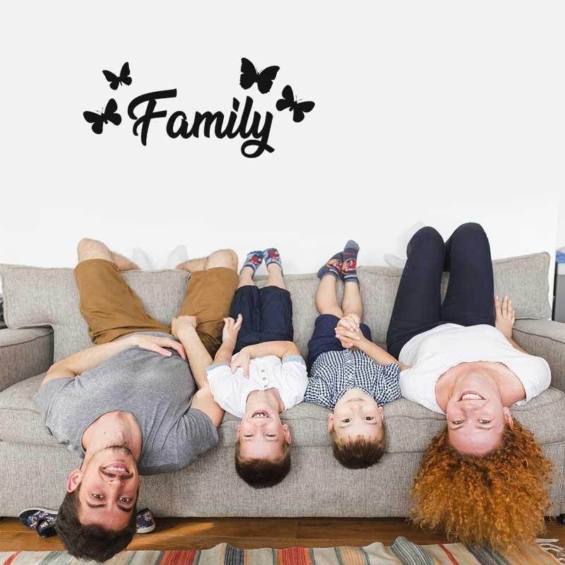 Family con farfalle