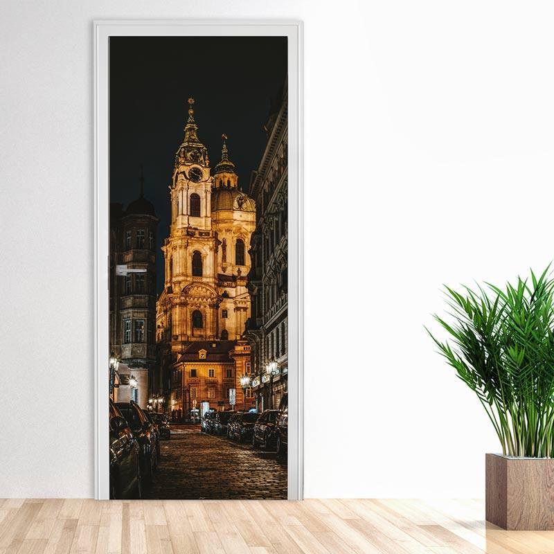 Praga Notte, Adesivo Porta