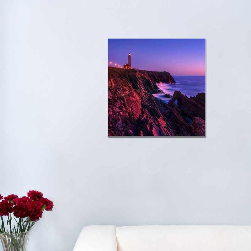 Faro tramonto, Tela Canvas