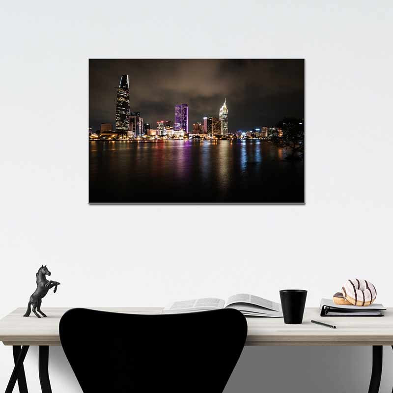 City Lights, Tela Canvas