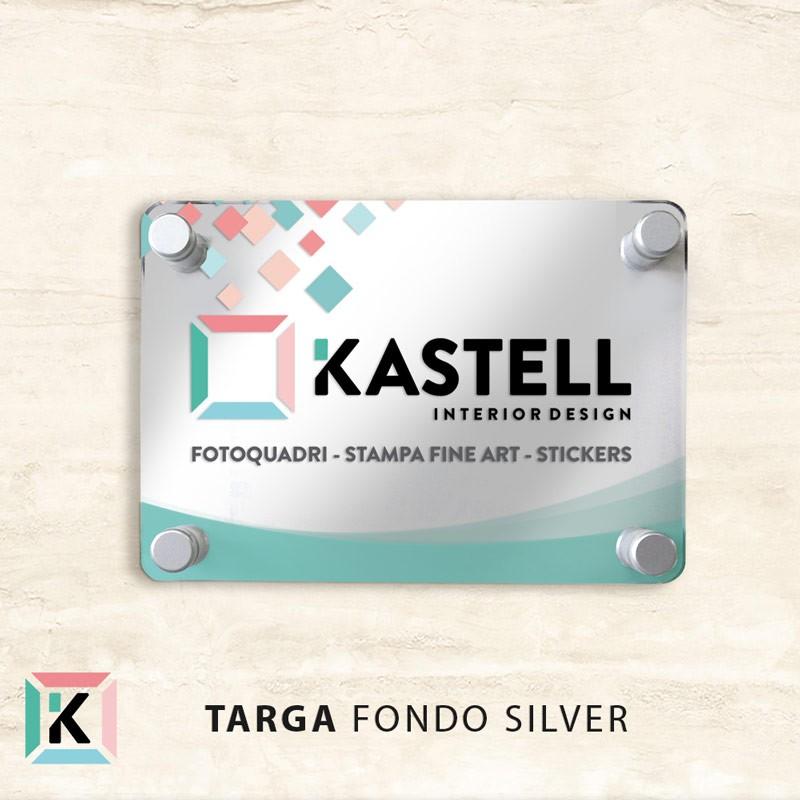 Targa Fondo silver