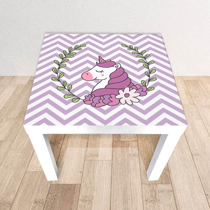 Unicorno, Adesivo tavolino