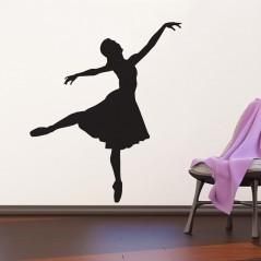Adesivo murale Danzatrice Silhouette